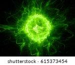 Green Glowing Fireball...