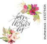 greeting card for mother s day  ... | Shutterstock .eps vector #615375434