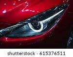 headlight of a modern luxury...   Shutterstock . vector #615376511