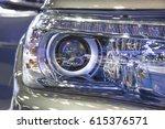 headlight of a modern luxury...   Shutterstock . vector #615376571