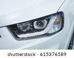 headlight of a modern luxury...   Shutterstock . vector #615376589
