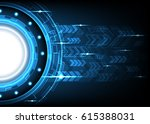 abstract technology circle... | Shutterstock .eps vector #615388031