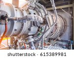gas turbine engine is the prime ... | Shutterstock . vector #615389981