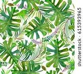 beautiful tropical nature...   Shutterstock . vector #615393965