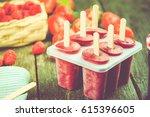homemade summer fruit  popsicle ...   Shutterstock . vector #615396605