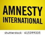 "Small photo of NOVEMBER 2016 - BERLIN: the logo of the non governmental organization ""Amnesty International""."