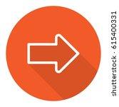 arrow icon stock vector... | Shutterstock .eps vector #615400331