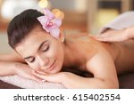 young woman having spa... | Shutterstock . vector #615402554