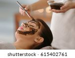 young woman having face... | Shutterstock . vector #615402761