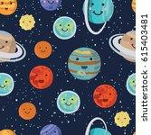 vector cartoon funny pattern of ... | Shutterstock .eps vector #615403481