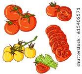 vector illustration of set of...   Shutterstock .eps vector #615403571