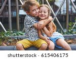two preschool children boy and...