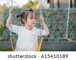 kids playing at the swing in...   Shutterstock . vector #615410189