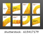 brochure cover design layout... | Shutterstock .eps vector #615417179