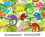 seamless pattern with cute ... | Shutterstock .eps vector #615422285