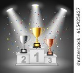 podium winners. vector... | Shutterstock .eps vector #615425627