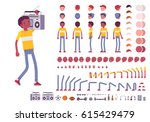 teenager boy character creation ... | Shutterstock .eps vector #615429479