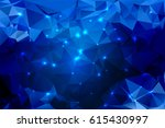 Blue Shades Abstract Low Poly...