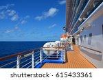 open deck on huge cruise ship... | Shutterstock . vector #615433361