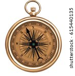 compass   vector illustration... | Shutterstock .eps vector #615440135