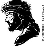 jesus christ passion | Shutterstock .eps vector #615441275