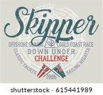 offshore sailing challenge ... | Shutterstock .eps vector #615441989