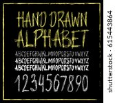 graphic font for your design.... | Shutterstock .eps vector #615443864