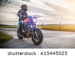 motorbike on the road riding....   Shutterstock . vector #615445025