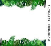 tropical foliage. floral design ... | Shutterstock .eps vector #615446741