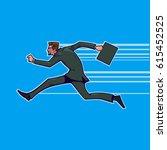 business breakthrough success ... | Shutterstock .eps vector #615452525
