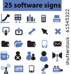 25 software signs. raster... | Shutterstock . vector #61545322