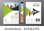business brochure or flyer... | Shutterstock .eps vector #615461291