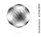 abstract dotted sphere.... | Shutterstock .eps vector #615461849