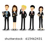 business team. business cartoon ... | Shutterstock .eps vector #615462431