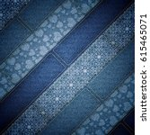denim patchwork background | Shutterstock . vector #615465071