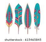 set of colorful stylized...