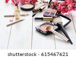 various cosmetic products for... | Shutterstock . vector #615467621