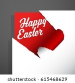 happy easter holiday greeting... | Shutterstock .eps vector #615468629
