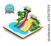 vector illustration of aqua... | Shutterstock .eps vector #615473519