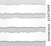 realistic vector torn paper... | Shutterstock .eps vector #615475499
