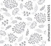 seamless vector floral pattern | Shutterstock .eps vector #615476201
