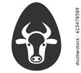 cow egg raster icon. flat gray... | Shutterstock . vector #615478589