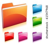 set of colorful folder icon | Shutterstock .eps vector #61547968