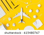 travel planning. airplane ... | Shutterstock . vector #615480767