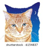 orange tabby cat with blue eyes | Shutterstock . vector #6154837