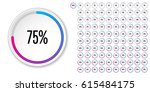 set of circle percentage... | Shutterstock .eps vector #615484175