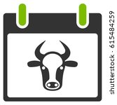 Cow Calendar Page Raster Icon....