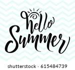 hello summer vector... | Shutterstock .eps vector #615484739