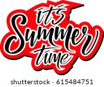 it's summer time vector... | Shutterstock .eps vector #615484751