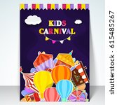 kids carnival template ... | Shutterstock .eps vector #615485267